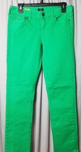 J. Cree Matchstick jeans bright green cropped ankl